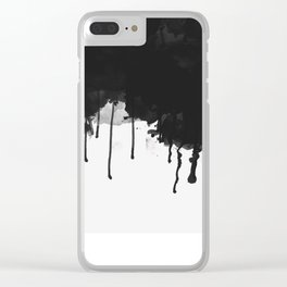 Spilled Ink Clear iPhone Case
