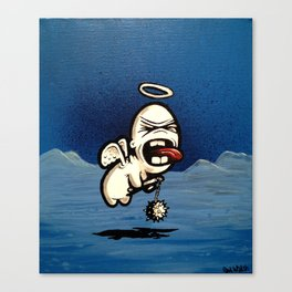 Angry Cupid with Flail Canvas Print