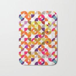 Retro geo circles Multicolor Bath Mat