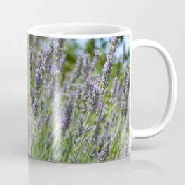 Lavender and Orange Butterfly Coffee Mug