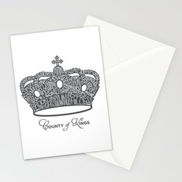 County of Kings | Brooklyn NYC Crown (GREY) Stationery Cards
