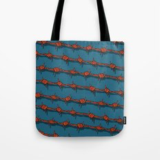 Barb Wire pattern Tote Bag