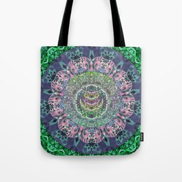 Iridescent Cosmic Eye Depth Meditation Transcendental Mandala Tote Bag