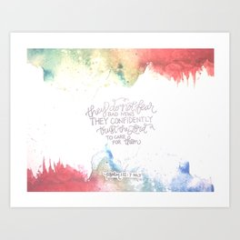 Confidently Trust- Psalm 112:7  Art Print