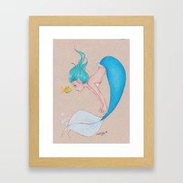Mindy Mermaid Framed Art Print