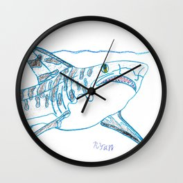 Tiger Shark II Wall Clock
