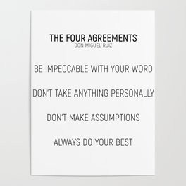 The Four Agreements #minimalism #shortversion Poster