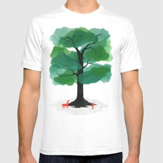 Man & Nature - The Tree of Life White Mens Fitted Tee MEDIUM