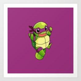 TMNT_POKET_MONSTER_purple Art Print
