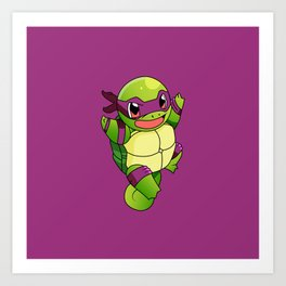 TMNT_POKET_MONSTER_purple Art Print