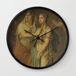 The actresses Joanna Cornelia Ziesenis-Wattier (1762-1827) and Geertruida Jacoba Grevelink-Hilverdin Wall Clock
