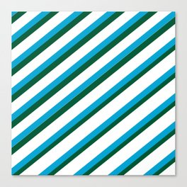 TEAM COLORS 1...LIGHT BLUE,GREEN Canvas Print