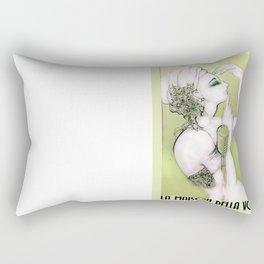 Maison della Voce Green Rectangular Pillow