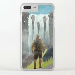 HK Bokuto's waterfall Clear iPhone Case