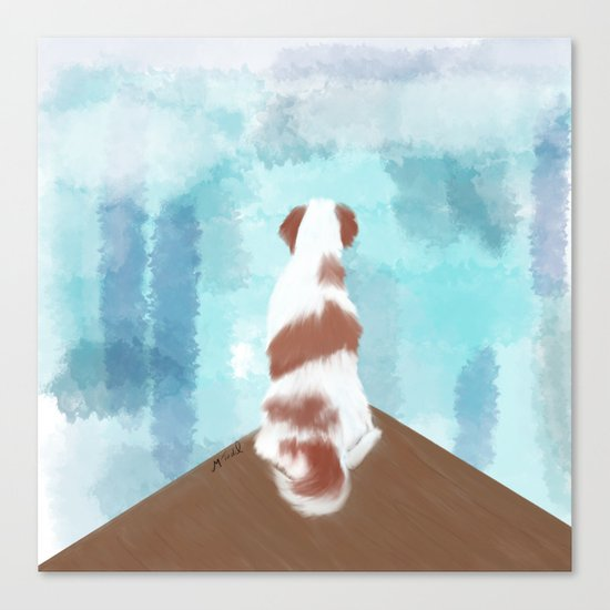 Deschutes The Brittany Spaniel Canvas Print
