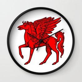 Pegasus shield 2. Wall Clock
