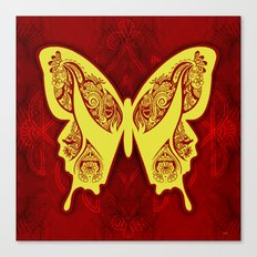 Henna Butterfly No. 5 Canvas Print