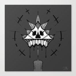 SkullFace Halo Canvas Print