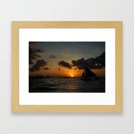 Boracay beach sunset Framed Art Print