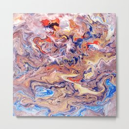 The Heavens Abstract Acrylic Pour Painting Metal Print