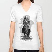 putin V-neck T-shirts featuring Putin cool by Valentina