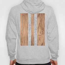 Wood Grain Stripes - Concrete #347 Hoody