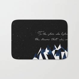 A Court of Mist and Fury Quote Bath Mat