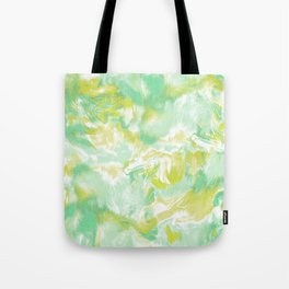 Marble Mist Green Lime Tote Bag
