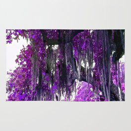 Trees Purple Moss Rug