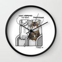 gemma Wall Clocks featuring Photoshop by gemma correll