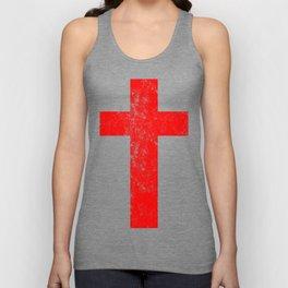 Cross (distressed red)  Unisex Tank Top