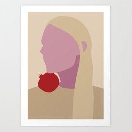 pomegranate portrait Art Print