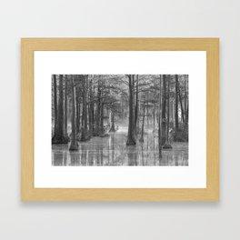 Adams Mill Pond 40 B&W Framed Art Print