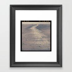 seaside sand Framed Art Print