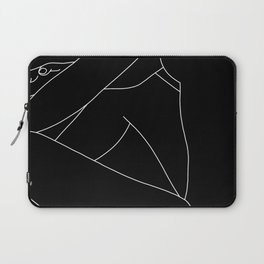 Nude figure line drawing - Lou Black Laptop Sleeve