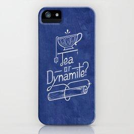 Tea or Dynamite? (blue) iPhone Case