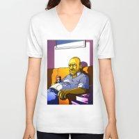 homer V-neck T-shirts featuring Depressed Homer by Adrien ADN Noterdaem