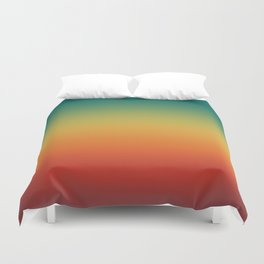 Colorful Trendy Gradient Pattern Duvet Cover