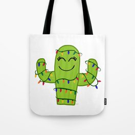 Merry and Bright Cactus Tote Bag