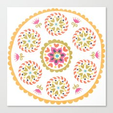 Suzani inspired floral 4 Canvas Print