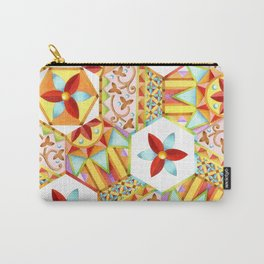 Gypsy Boho Chic Hexagons Carry-All Pouch