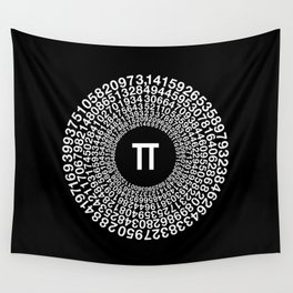 TRANSCENDENCE OF PI Wall Tapestry