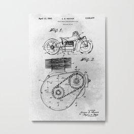 Shaft Drive Motorcycle Metal Print