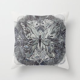 Butterfly lace Throw Pillow