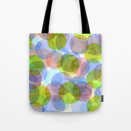Green Red Blue Circles Tote Bag