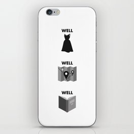Well Dressed, Well Traveled, Well Read iPhone Skin