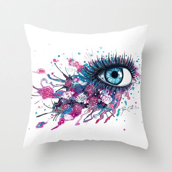 """Midnight Rose"" Throw Pillow"