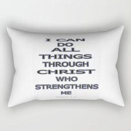 I Can Do All Things Rectangular Pillow