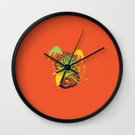 Abstract grunge cat Wall Clock