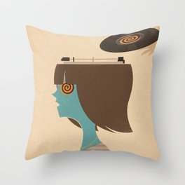 Mind Control Throw Pillow